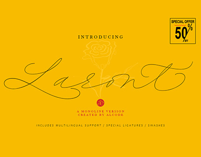 New Font Laront Monoline