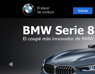 Diseño UI Home BMW