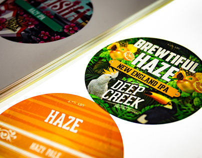 Printing backlit tap badges for the Deep Creek Brewing