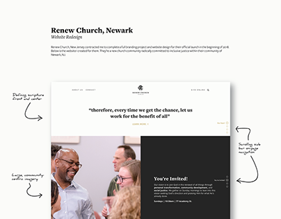 Web Design for Renew Church, Newark