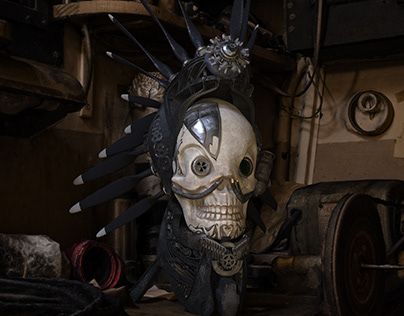 "Steampunk scull ""Hell behind the sky"""