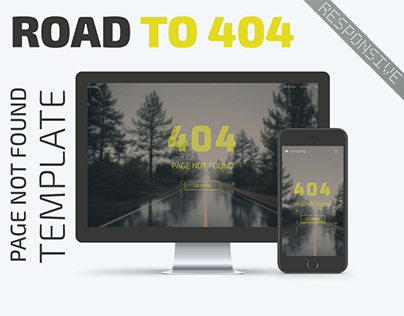 Road to 404 – Responsive Design Page Not Found Template