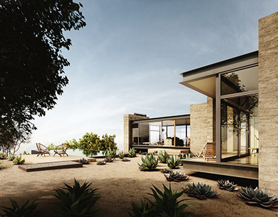 Visualization | Saddle Peak House | Exterior
