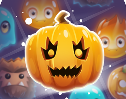 Halloween monsters match 3 UI