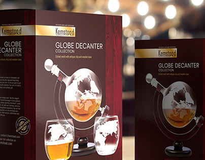 Packaging design for globe decanter collection