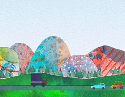 New Watercolour Collage, Pictures and Animations