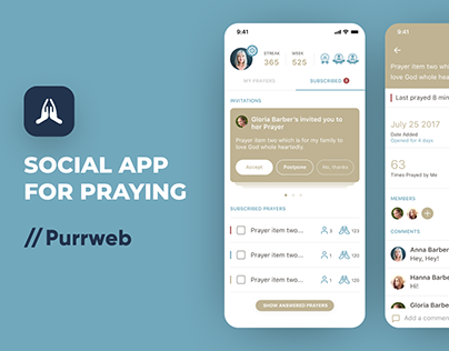 Interaction Design | Social app for praying