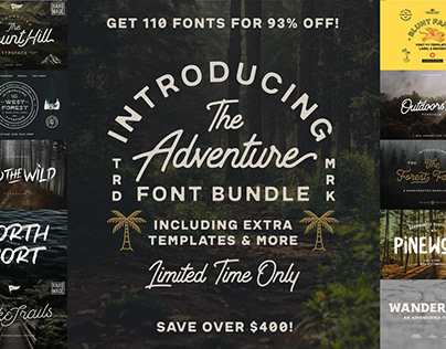 THE ADVENTURE FONT BUNDLE - 93% OFF!