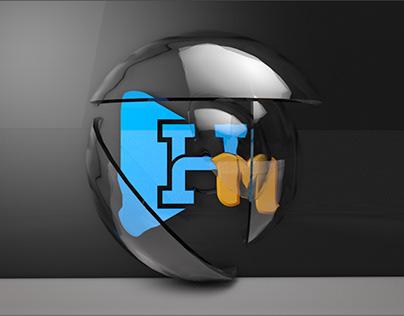 Piece of Circle Glass 3D Render