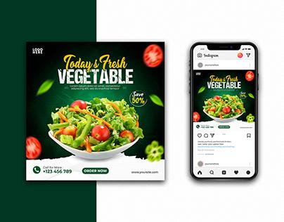 Today's Fresh Vegetable Social Media Post Design