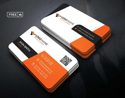 Modern Orange Business Card PSD Template