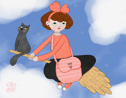 Kikis's delivery service fan art