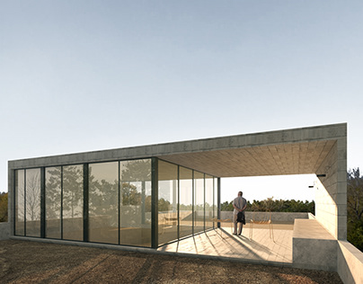 Re-visualizing Sierra Fria House from archdaily