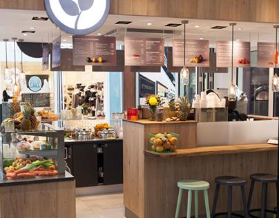Health Food Deli: Interior Design
