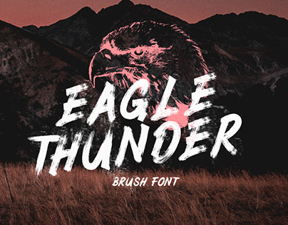 EAGLE THUNDER - FREE TEXTURED BRUSH FONT