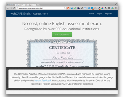 English Assessment System