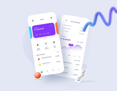 Mobile Bank App UI