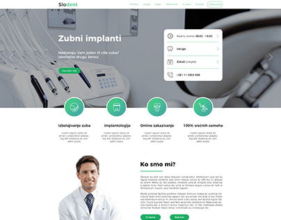 Slodent - Web design