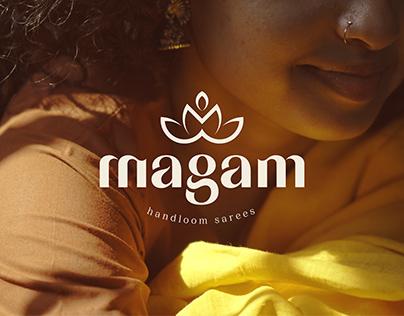 Magam Handloom Sarees - Visual identity design Concept