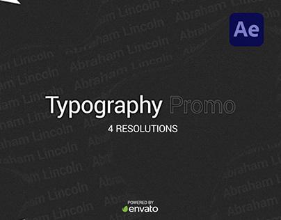 Typography Promo