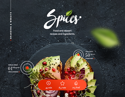 Spices & Recipes Website and Branding.