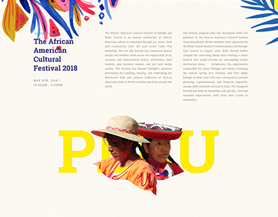 Festival Cultural Landing page - free download