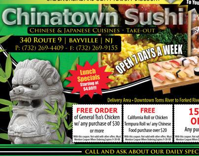 Chinatown Sushi Half Page Ad