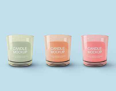 Free Candle Mockup PSD