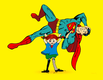 PIPPI LONG STOCK AND SUPERMAN