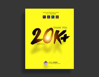 Facebook Group 20K Members Banner Design
