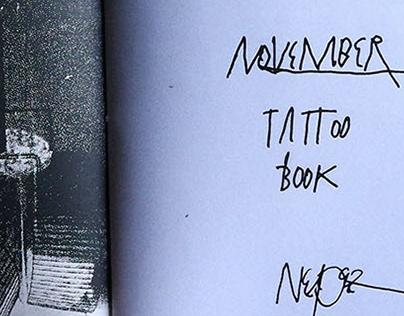 NOVEMBER tattoo book