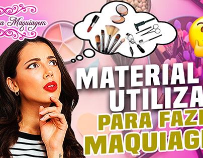 Thumbnail YouTube: Material de maquiagem