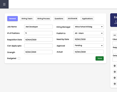 HR UI/UX or Front-end