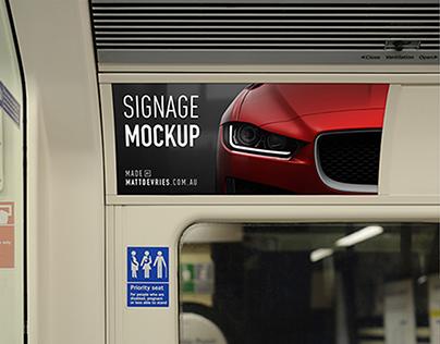 Smart Advertising Signage | PSD TEMPLATE MOCKUP