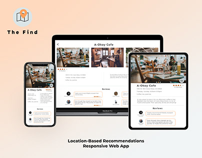 The Find - Responsive Web App | UI/UX Design