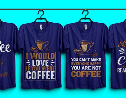 Coffee T-shirt Design Bundle.