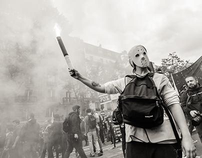 Paris protest against the new labor law