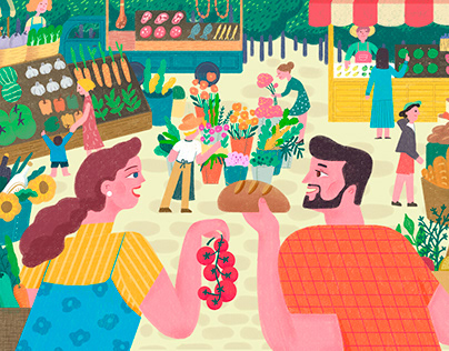 A poster for a farmer market