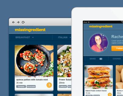 Missingredient Web App Design