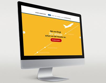 Screendesign Onepager für Transportunternehmen