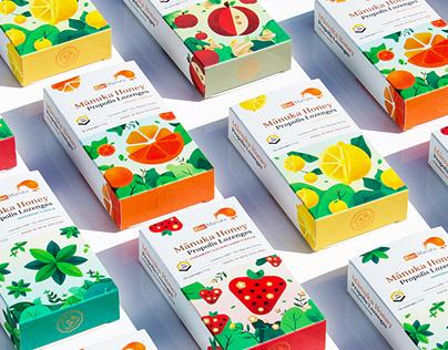 Manuka Honey Propolis Candies Packaging Design