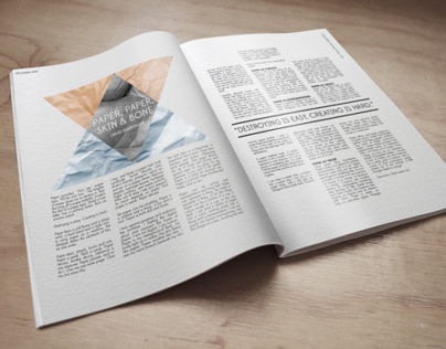 Magazine Layout Mockup