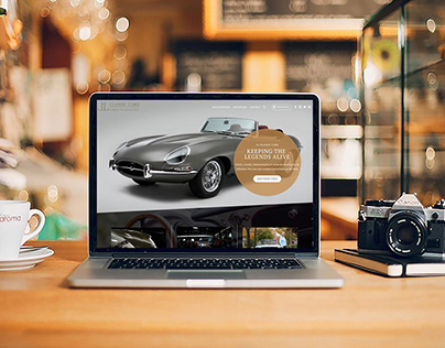 LL Classic Cars - website prototyping