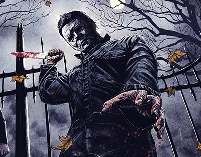 Halloween, alternative movie poster, screen print
