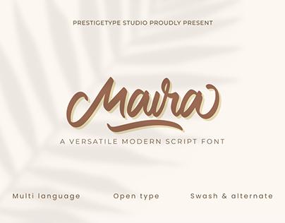 Maira - Free Versatile Modern Script Font