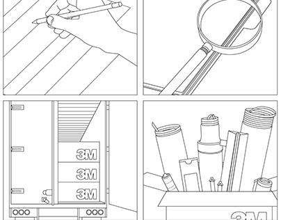 3M - Construction Services Custom Kit Illustrations