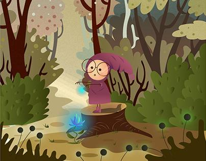 Magic forest illustration