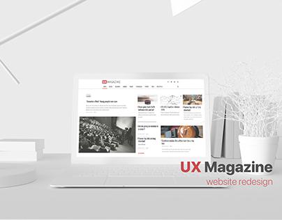 UX Magazine Website Redesign Concepts