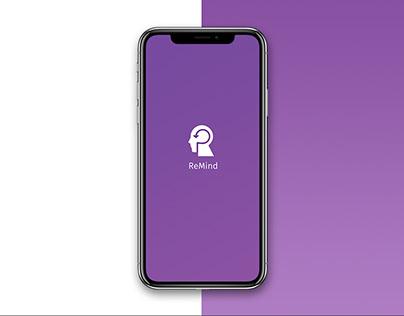 ReMind - Mobile Application Design