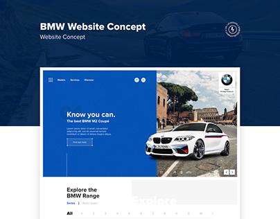 BMW SA Website Concept